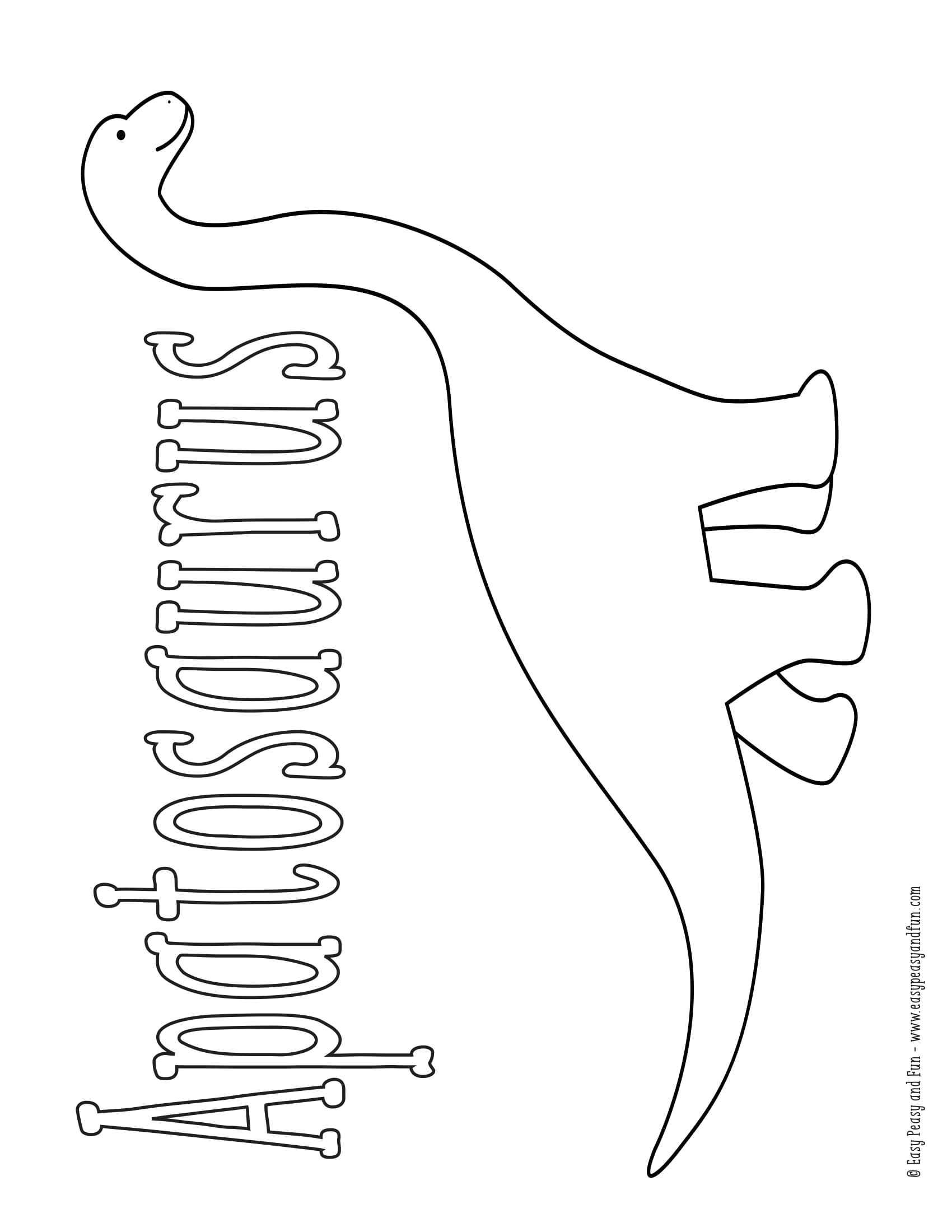 Okul öncesi Dinozor çeşitleri Boyama Sayfası Okul öncesi Etkinlik