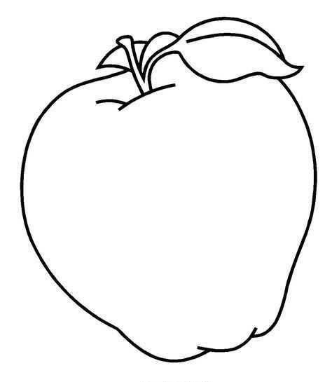 Okul öncesi Elma Boyama Sayfası Ve Kalıbı Okul öncesi Etkinlik