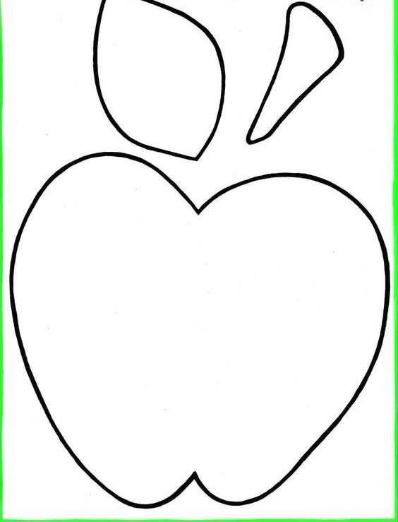 Okul Oncesi Elma Boyama Sayfasi Kalibi 8 Okul öncesi Etkinlik