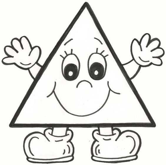 Okul öncesi üçgen Boyama Sayfaları Okul öncesi Etkinlik