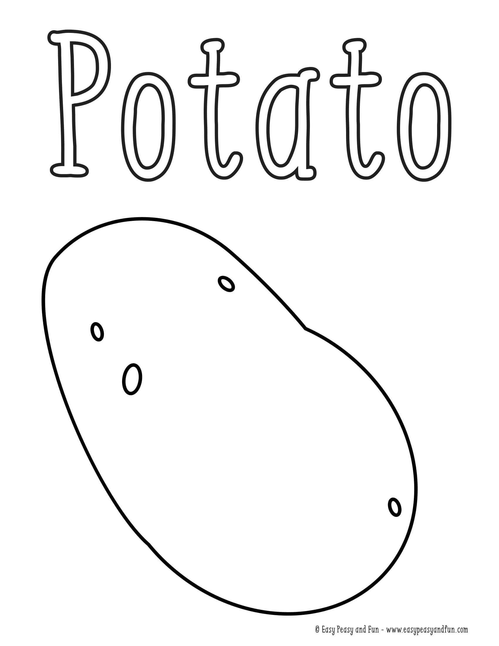 Patates Boyama Sayfasi Okul öncesi Etkinlik Faliyetleri