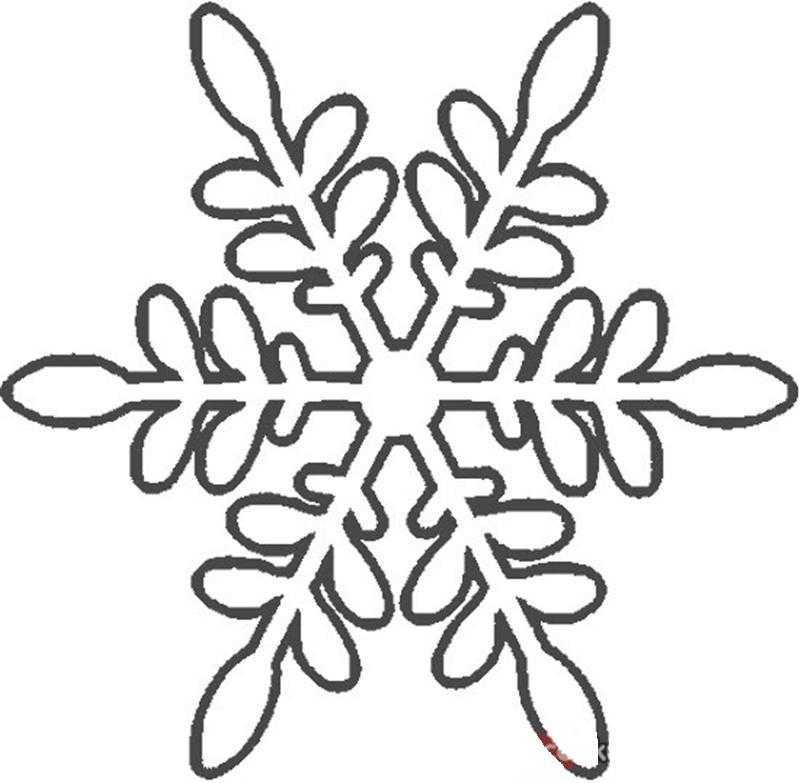 Okul Oncesi Kar Taneleri Boyama Sayfasi 8 Okul Oncesi Etkinlik