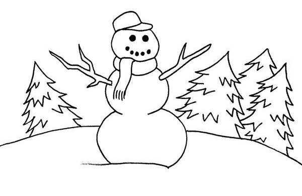Okul Oncesi Kardan Adam Boyama Sayfaları 5 Okul öncesi Etkinlik
