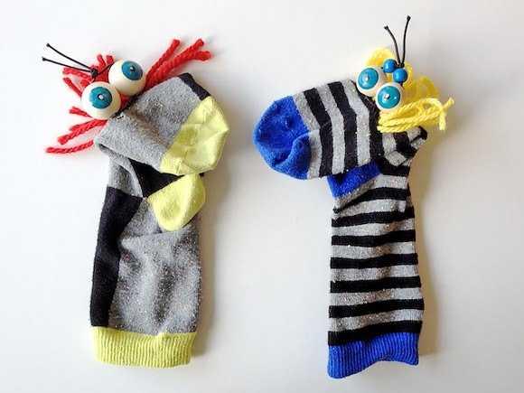 Çorap ve Kaşık Kukla Örnekleri
