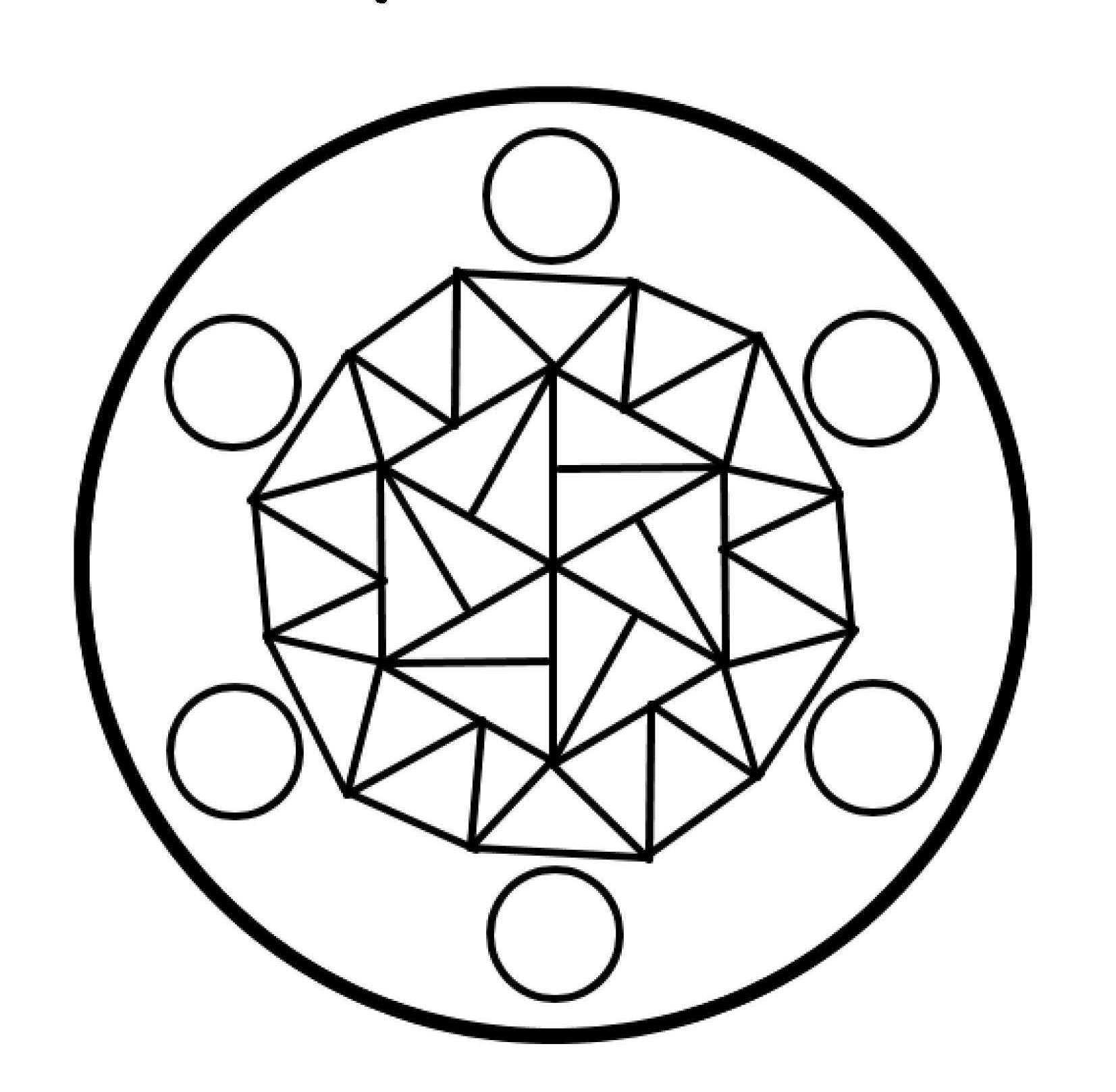 Okul Öncesi Mandala Boyama Sayfaları Yeni