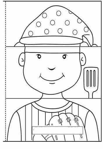 Mesleklerle İlgili Eğitici Oyuncak Kitap Kalıbı