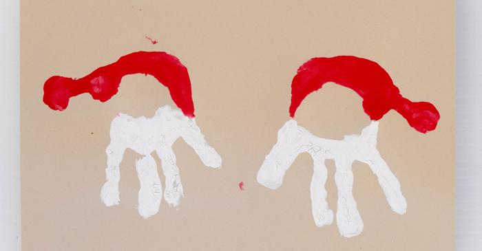 El Baskısı İle Noel Baba Yapımı