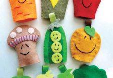 Okul Öncesi Keçeden Meyve Sebze Parmak Kuklalar