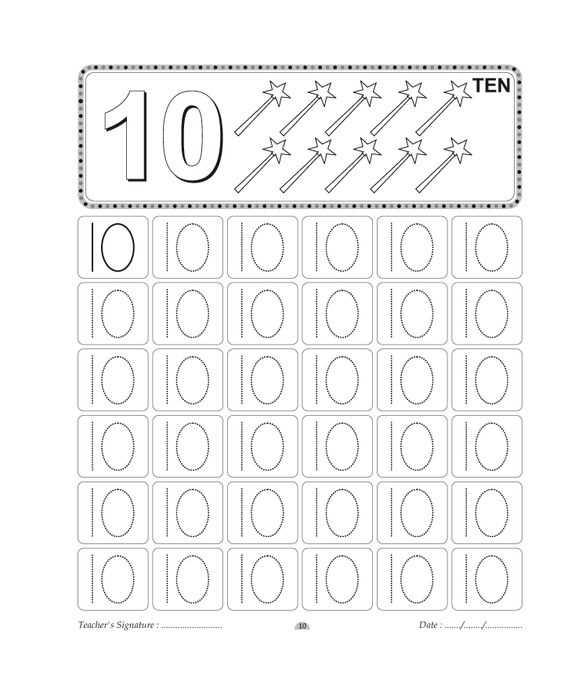 1 den 10 a Kadar Dik Yazıya Uygun Çizgi Çalışmaları