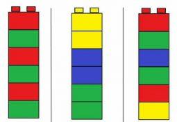 Legoları Örnekteki Gibi Yerleştirme Etkinliği Renk Çalışması