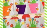 Anneler Günü İçin El Baskısından Çiçekler