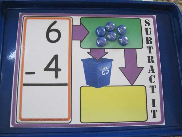 Okul Öncesi Çıkarma İşlemi Eğitici Oyuncak Matları