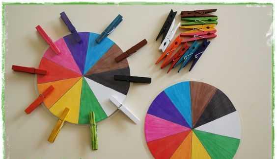 Okul Öncesi Renk Çarkı Eğitici Oyuncak Yapımı
