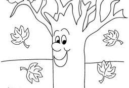 Sonbahar Ağaçları Boyama Sayfaları