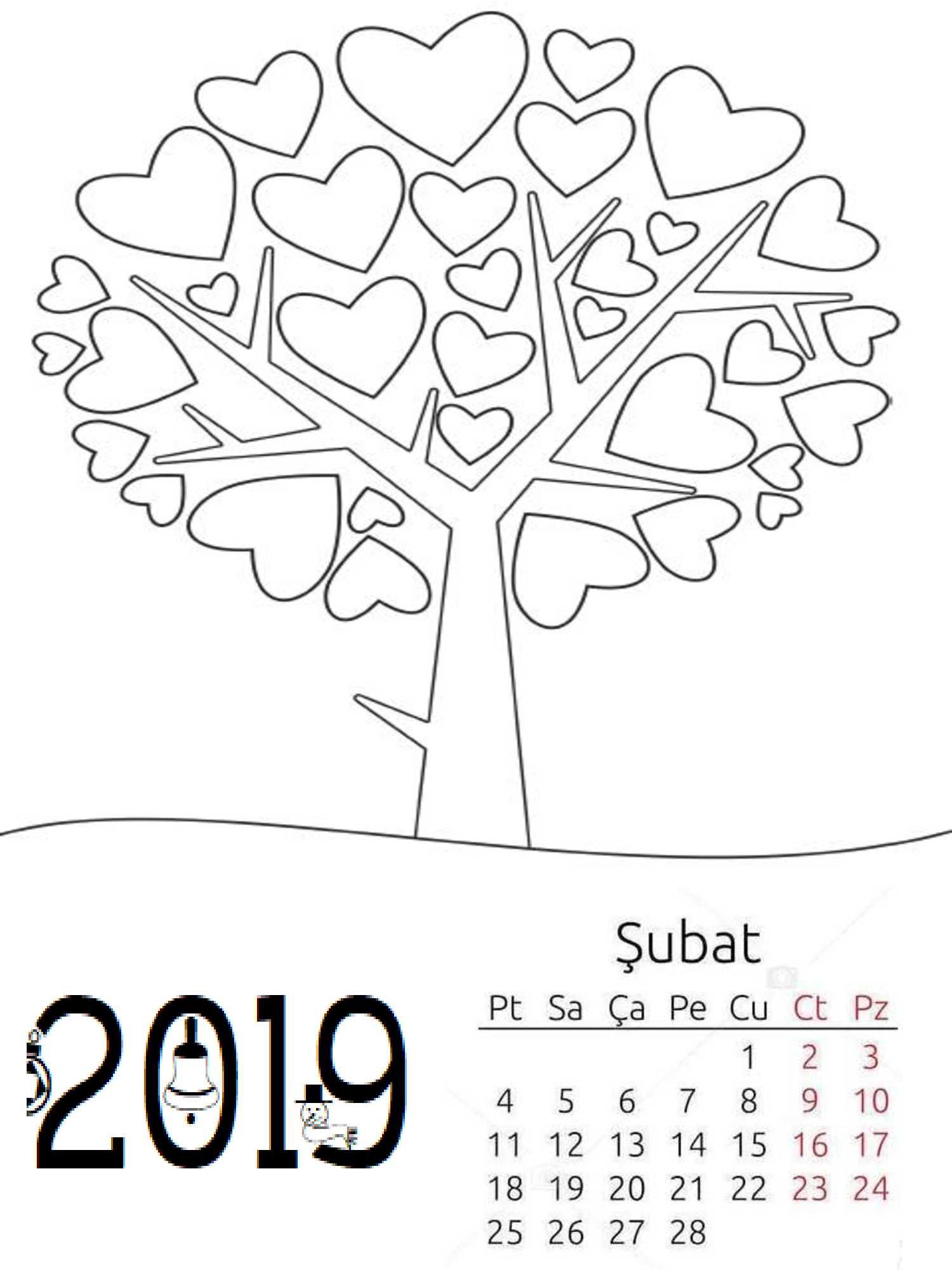 Okul Oncesi 2019 Boyama Sayfa Takvimi 6 Okul Oncesi Etkinlik